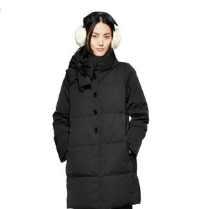 Kate spade funnel neck bow coat